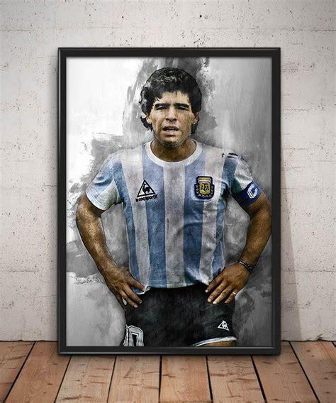 Maradona poster Maradona print Maradona art print wall art ...