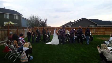 Awesome Biker Wedding