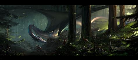 forest dragon wallpaper
