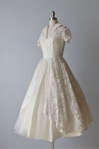 Vintage 1950s wedding dress tea length wedding dress for 1950s tea length wedding dress