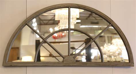 arch window oak mirror