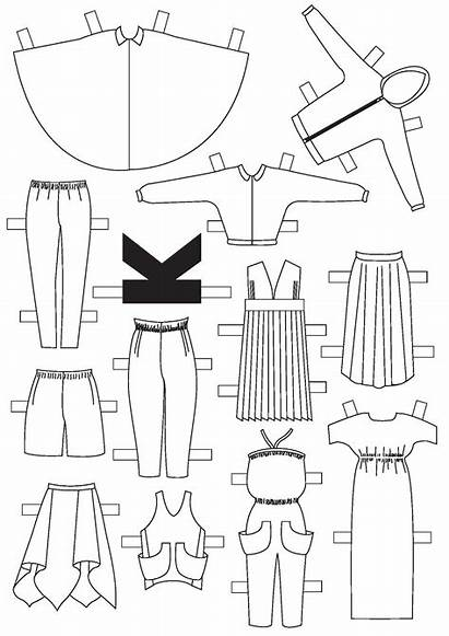 Paper Dolls Diy Doll Clothing Clothes Template