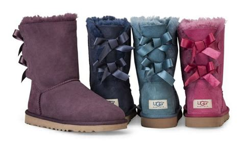 light blue uggs with bows purple navy blue light blue and pink bailey bow uggs