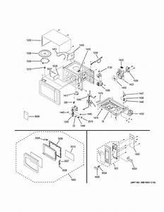 Ge Model Peb7226df1bb Countertop Microwave Genuine Parts