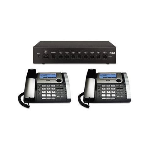 rca phone system rca 25800 eight line corded office phone system rca25800