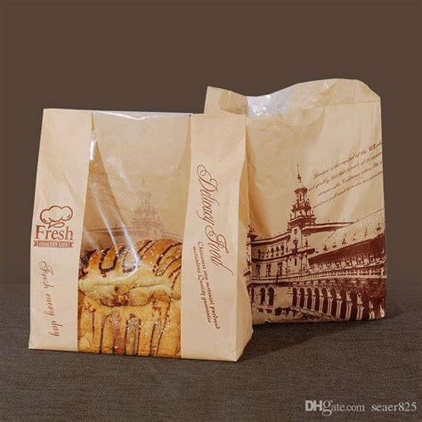 bags paper bag bread packaging window bakery cookie kraft toast baking food cake london package packing diy donut leisure pcs