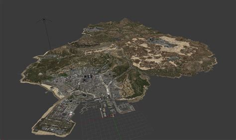 I Made A 3d Concept For A Gta V Map With All Of San