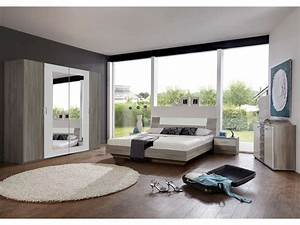 Conforama Chambre Adulte : chambre compl te ginny coloris ch ne montana et blanc ~ Melissatoandfro.com Idées de Décoration