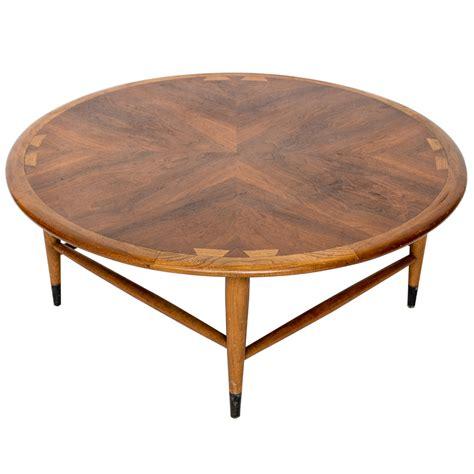 vintage round coffee table vintage walnut lane acclaim round coffee table ebay