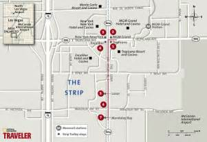 Las Vegas Strip Walking Map