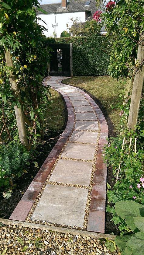 curved garden path curved garden path in sturminster marshall dorset msc landscapes