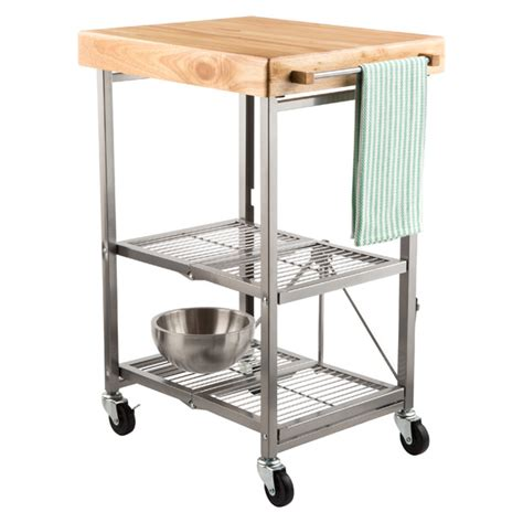 kitchen rolling island kitchen cart origami kitchen cart the container store