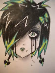 Goth Anime Girl Drawing