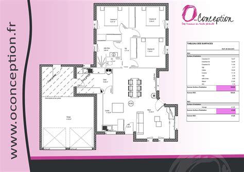 plan de maison de plain pied avec 3 chambres plans maison plain pied 3 chambres plan maison ossature