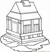 Monastery Coloring Empire State Building Pages Designlooter Kidz Coloringpages101 Getdrawings Drawing Buildings Template sketch template