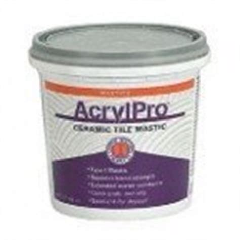 acrylpro ceramic tile adhesive drying time custom building products arl4000qt 1 quart acrylpro