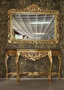 Riesige Casa Padrino Barock Spiegelkonsole Gold Mit Grner
