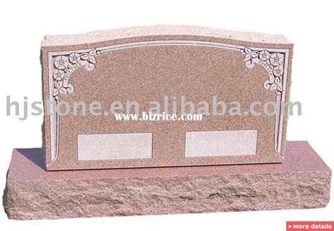 single grave headstone slant monument upright tombstone