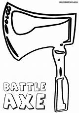 Axe Coloring Pages sketch template