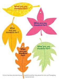 Free Printable Thankful Leaves