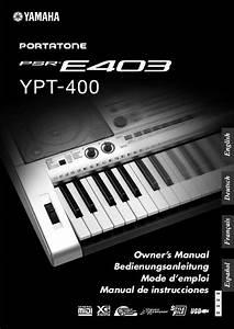 Yamaha Psr 400 : mode d 39 emploi yamaha psr e403 ypt 400 autres trouver une ~ Jslefanu.com Haus und Dekorationen