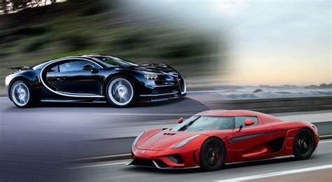 Megacar Showdown Bugatti Chiron Vs Koenigsegg Regera