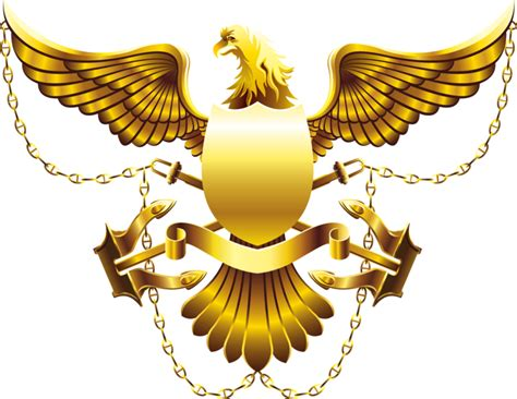 Gold Eagle Shield High Res (psd)