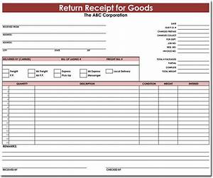 goods return receipt templates download for excel With return invoice template