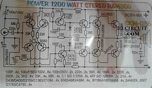 1200w High Power Amplifier 2sa1216 And 2sc2922