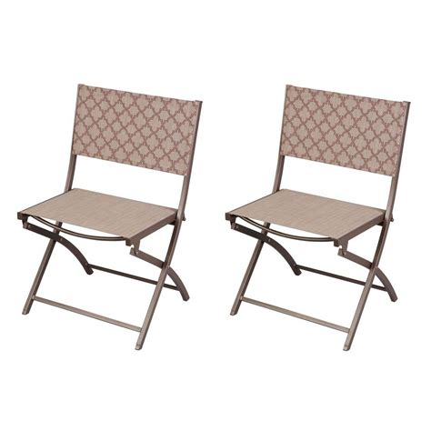 folding patio chairs home depot hton bay fairplay folding patio bistro table ftm01235t