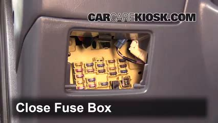 1998 Toyotum Camry Fuse Box Location by Interior Fuse Box Location 1997 2001 Toyota Camry 1998