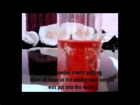 food adulteration detection kitchen kit youtube