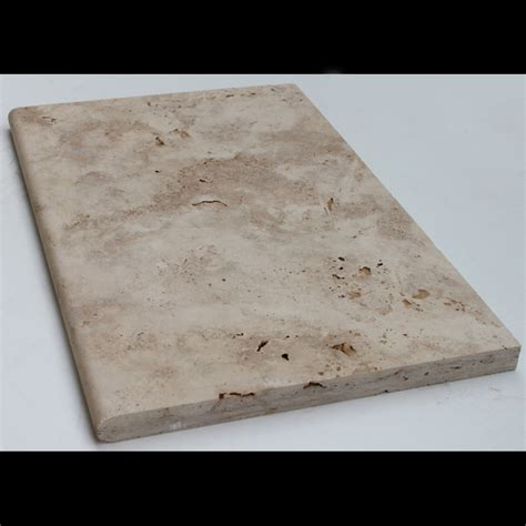 406x610x30mm light tumbled bullnose travertine paver
