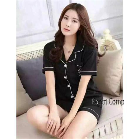 jual baju tidur lengan celana pendek bajutidur katun korea piyama wanita di lapak nasha style