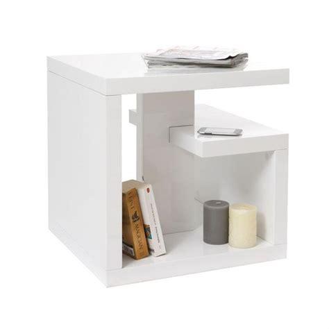 table d appoint design laqu 233 e blanche halton achat vente table d appoint table d appoint