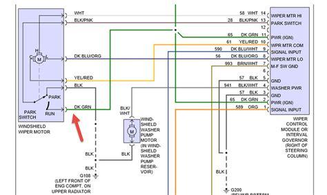 88 Chevy Wiper Motor Wiring Diagram by 1994 Dodge Dakota Wiper Parts Diagram Downloaddescargar