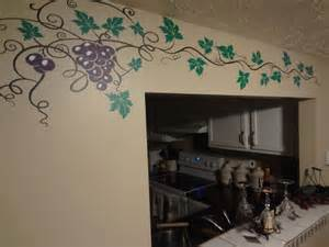 grape vine decal wine home decor wall art sticker kitchen