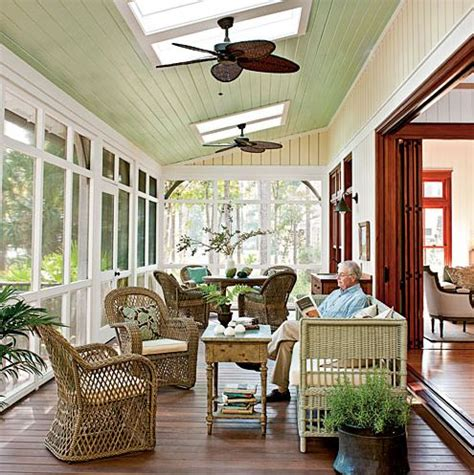 ceiling fans for sunrooms easy breezy beautiful a house that keeps its cool