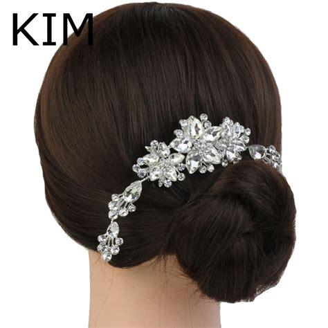 hair decoration wedding decoration deco hair comb clear pave