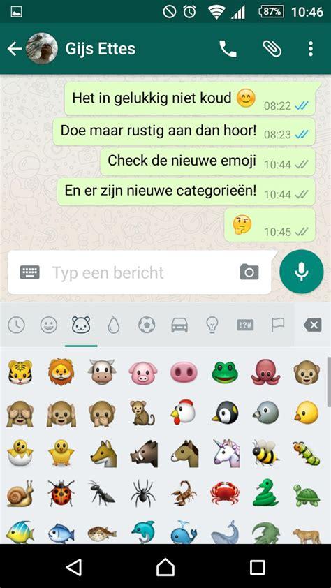 dit zijn de nieuwe whatsapp emoji voor android