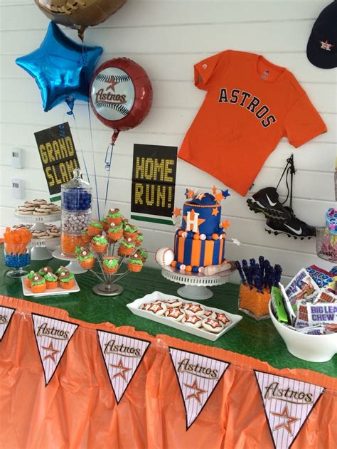 astros baseball party dessert table jeison pinterest
