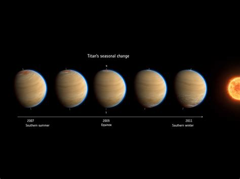 Titan S by Study Autumn Sets In Rapidly On Saturn S Moon Titan