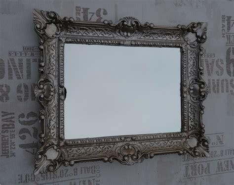 Wall Mirror Antique Silver Bathroom Vanity 56x46 Baroque