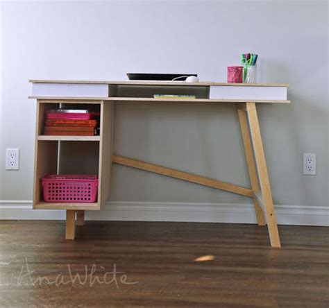 easy to make desk ana white grasshopper base for build your own study desk