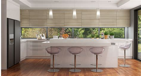 white wood grain kitchen cabinets white lacquer and wood grain melamine kitchen oppeinhome 1883