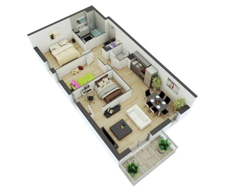 25 More 2 Bedroom 3d Floor Plans by Amazing 25 More 2 Bedroom 3d Floor Plans 5 Architecture