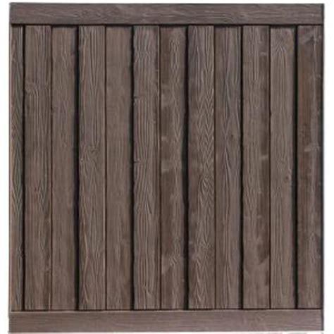 simtek ashland  ft    ft  walnut brown composite fence panel wpxdbr  home depot