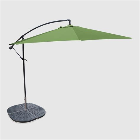 10 olive cantilever umbrella and weight base world market