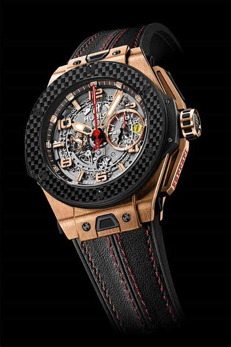 hublot big bang ferrari king gold carbon elaborate