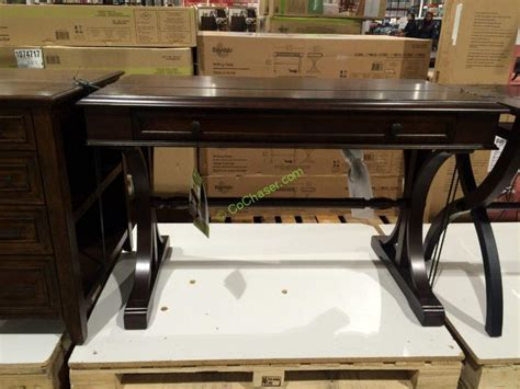 bayside furnishings white wood desk desk with glass top at costco hostgarcia